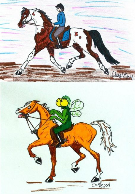 Years ago I was watching a woman riding her horse over fences. Each time the hor...