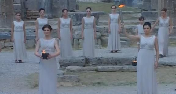 Loved the dresses   - Olympic Torch Realy 2012 , Olympia
