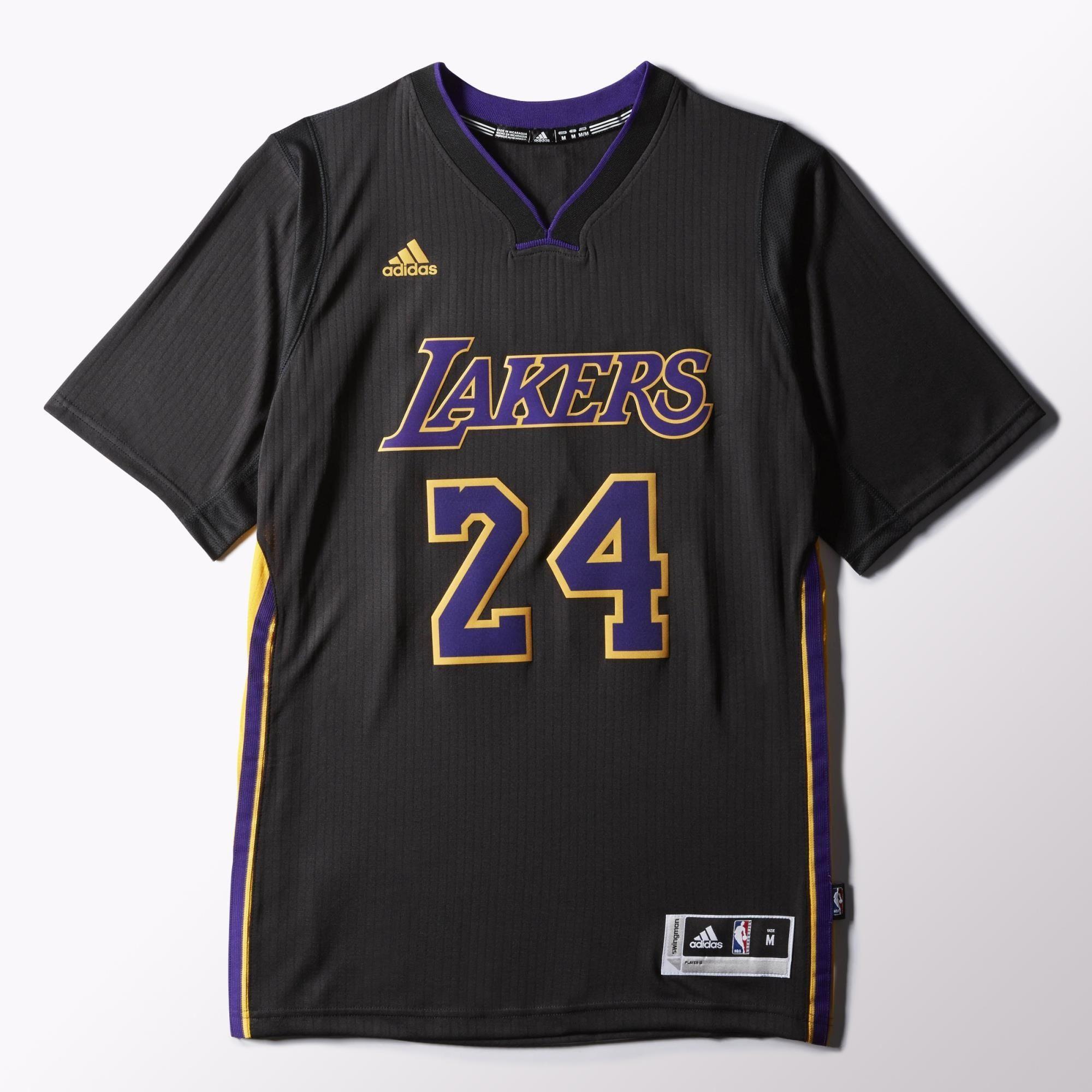Adidas Kobe Bryant Lakers Pride Swingman Jersey Black Adidas Us Nba T Shirts Basketball Vests Mens Basketball Jerseys