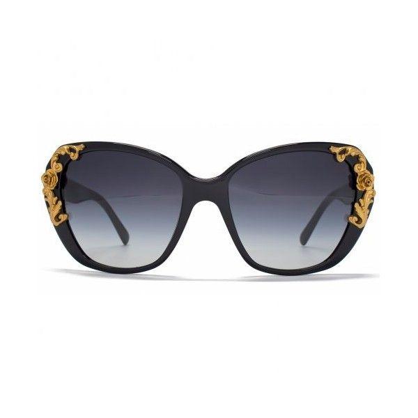 Dolce Gabbana Sicilian Baroque Sunglasses in Black