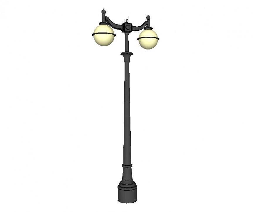 Electrical Lamp Post Detail 3d Model Layout Sketch Up File Lamp Post Lamp 3d Model