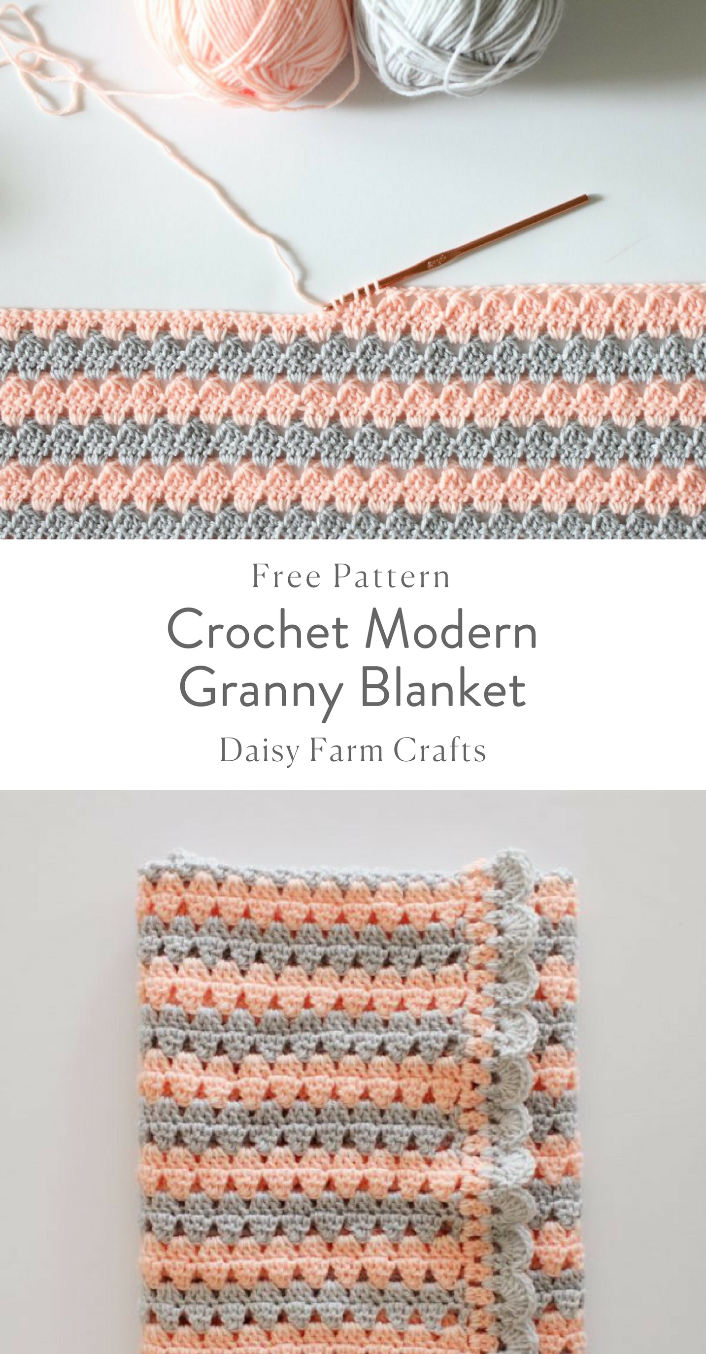 Free Pattern - Crochet Modern Granny Blanket | yet another awesome ...