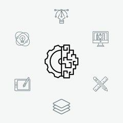 Brain vector icon sign symbol