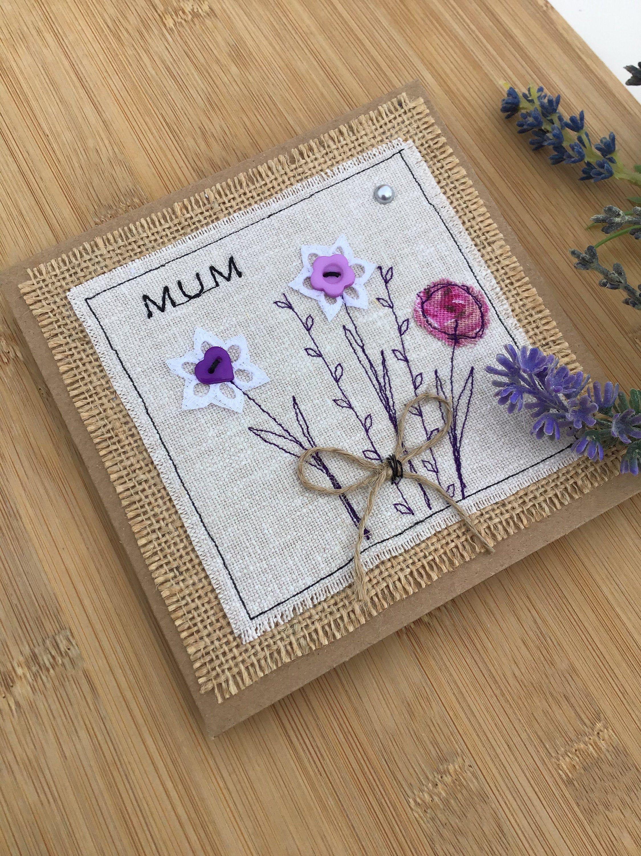 Handmade mum card birthday card for mum mothers day