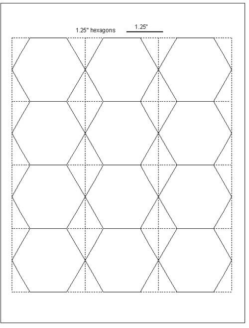 Download hexagon templates in various sizes Template, English - half inch graph paper template