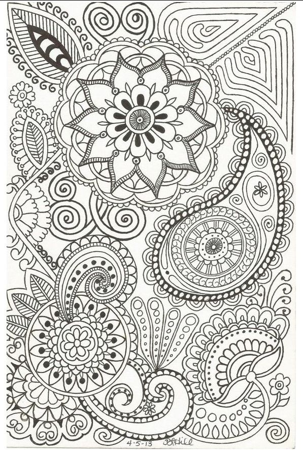 Cool henna doodles | Coloring Pages | Doodle art, Zentangle