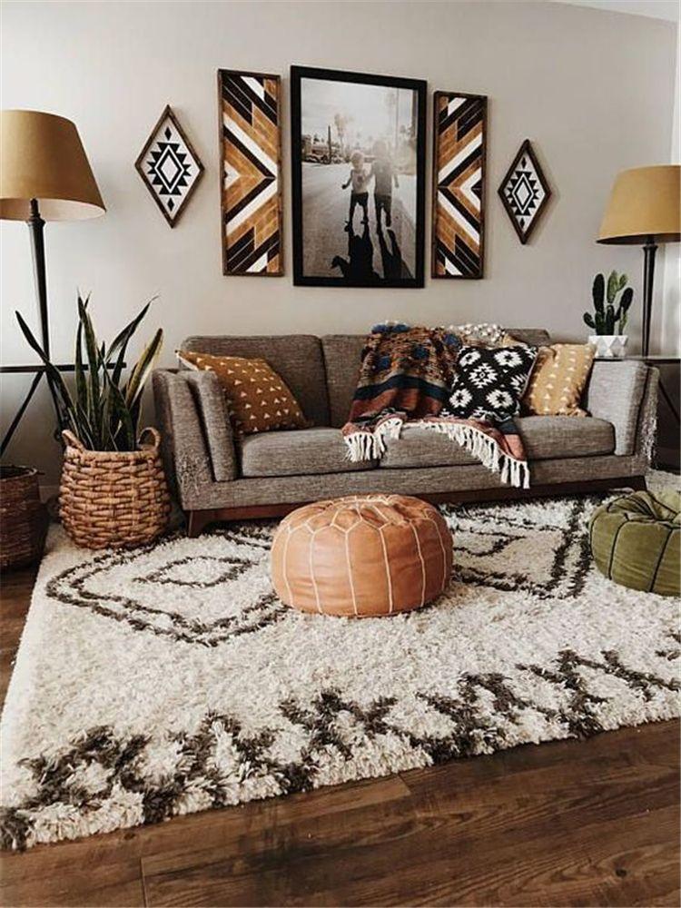 40 Cozy Rustic Living Room Decor Ideas Koees Blog Bohemian Living Room Decor Living Room Scandinavian Rustic Living Room
