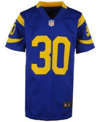 Nike Todd Gurley Los Angeles Rams Game Jersey Big Boys 8 20 Blue Xl Mens Tops Big Boys Todd Gurley