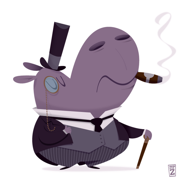 Mr. Zizz: a hippo #ROBBERBARON for @Sketch_Dailies