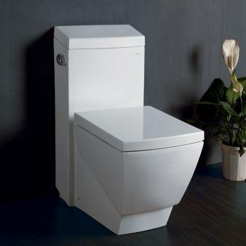Ariel TB336M White Platinum Collection Contemporary European Elongated One-Piece Toilet - Decor Island