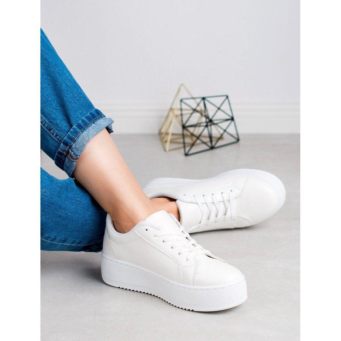 Shelovet Buty Sportowe Na Platformie Biale Sneakers Tretorn Sneaker Shoes