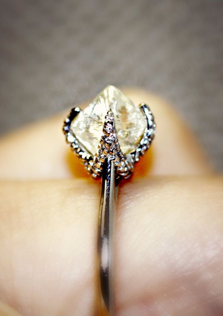 natural rough diamond ring by diamond in the rough