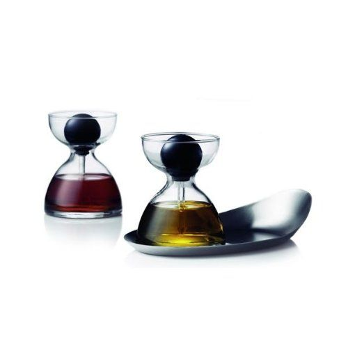 $80.00-$79.95 Menu Pipette Glass with Tray, Set of 2 - An attractive bowl that when combined with two of our pipette glasses makes an innovative plat-de-ménage. The exciting boat shape of the bowl and its weightiness make a decorative feature and protect the table top from drips. Use our new plat-de-ménage for oil and vinegar for salads, maple syrup and honey for breakfast or pesto and truffle o ...