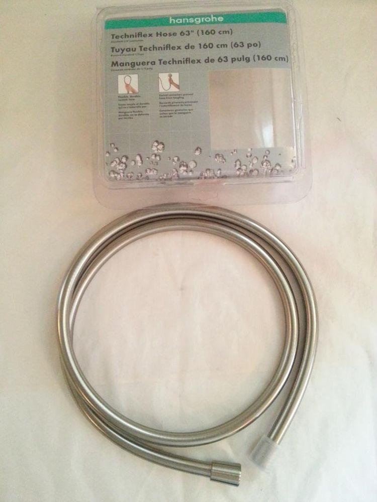 Hansgrohe 28276823 Techniflex B Hose, 63-Inch Brushed Nickel