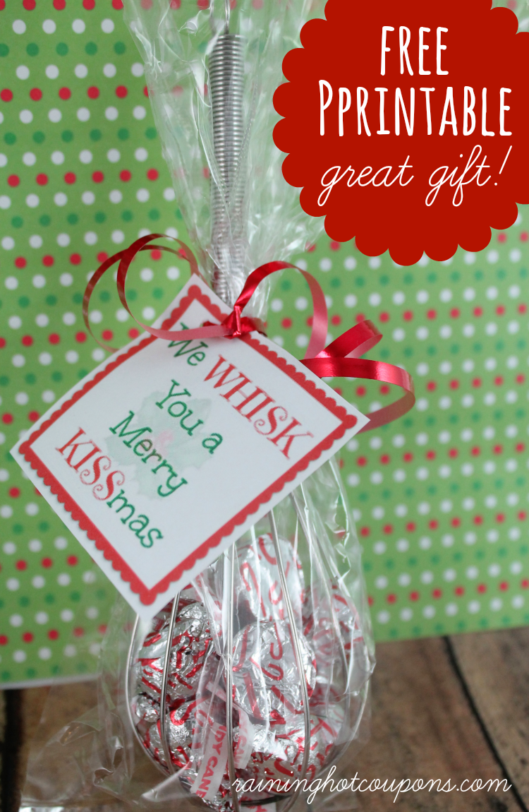 graphic relating to We Whisk You a Merry Kissmas Printable Tag named Totally free Printable Whisk Label \u201cWe Whisk oneself a Merry KISSmas