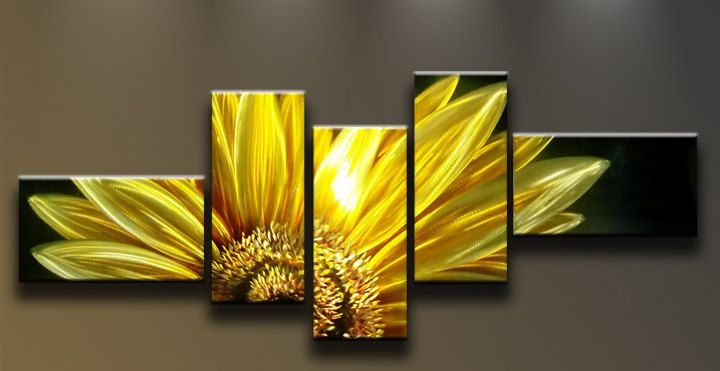 Modern Abstract Painting Metal Wall Art Sculpture Sunflower. $169.00 ...