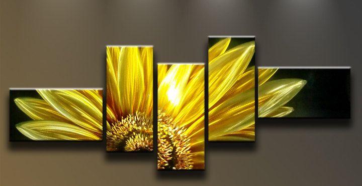 Modern Abstract Painting Metal Wall Art Sculpture Sunflower. $169.00 ...