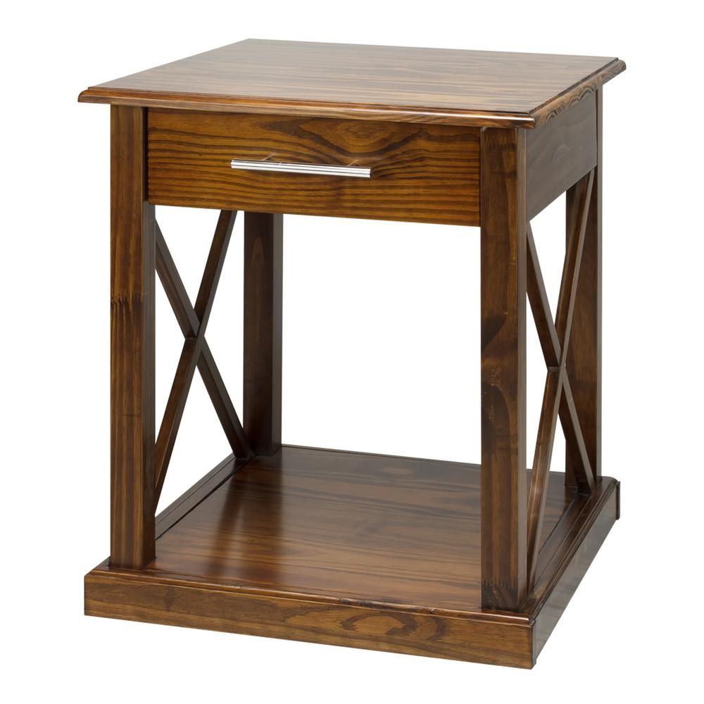 Casual Home Bay View Warm Brown End Table 363 14 Wood End Tables