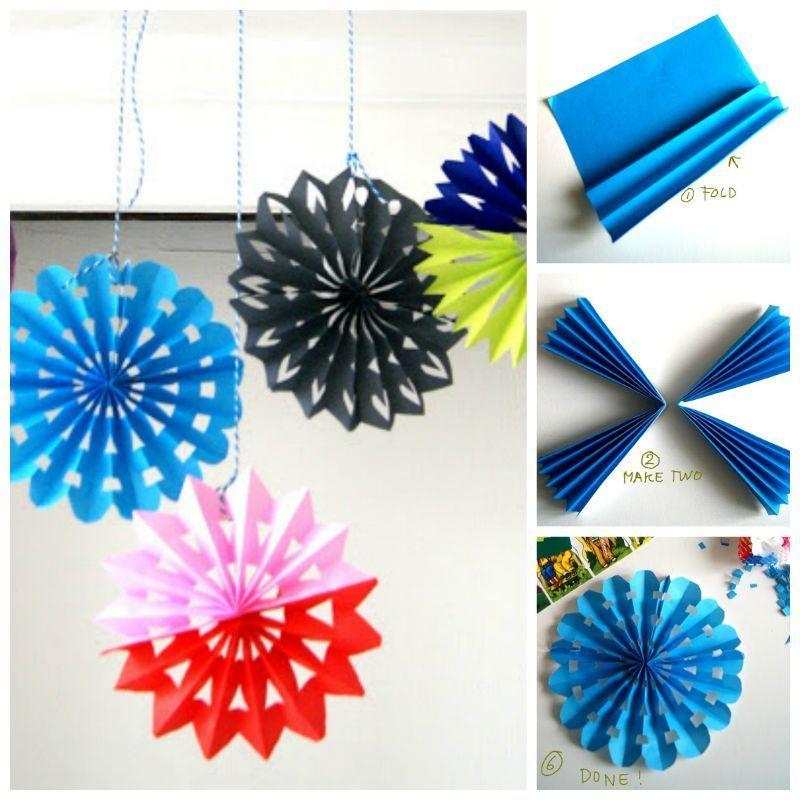 Creative ideas diy easy folded paper snowflake ornaments paper creative ideas diy easy folded paper snowflake ornaments solutioingenieria Choice Image
