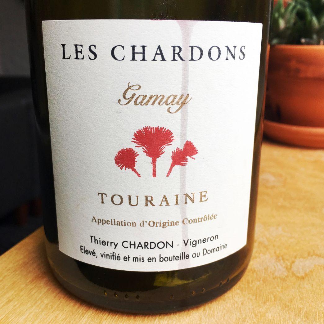Les Chardons Gamay Touraine 2014 Wine Bottle French Wine Bottle