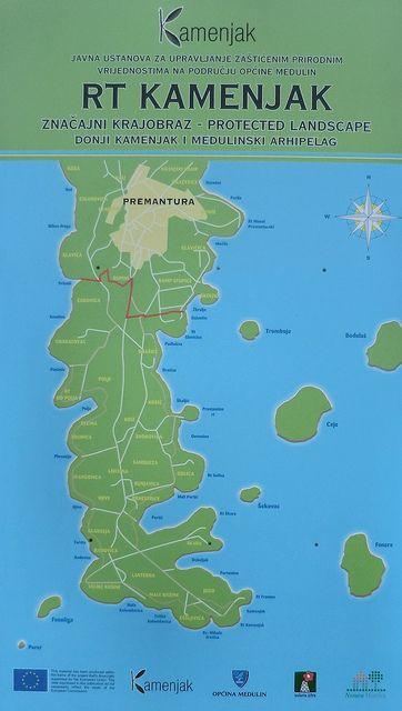 Istria Kamenjak Mapa Map Map Screenshot Croatia