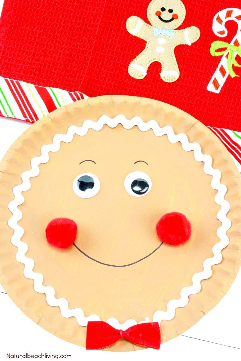 The Best Gingerbread Paper Plate Craft Ideas Man Crafts Preschoolers Christmas Activities