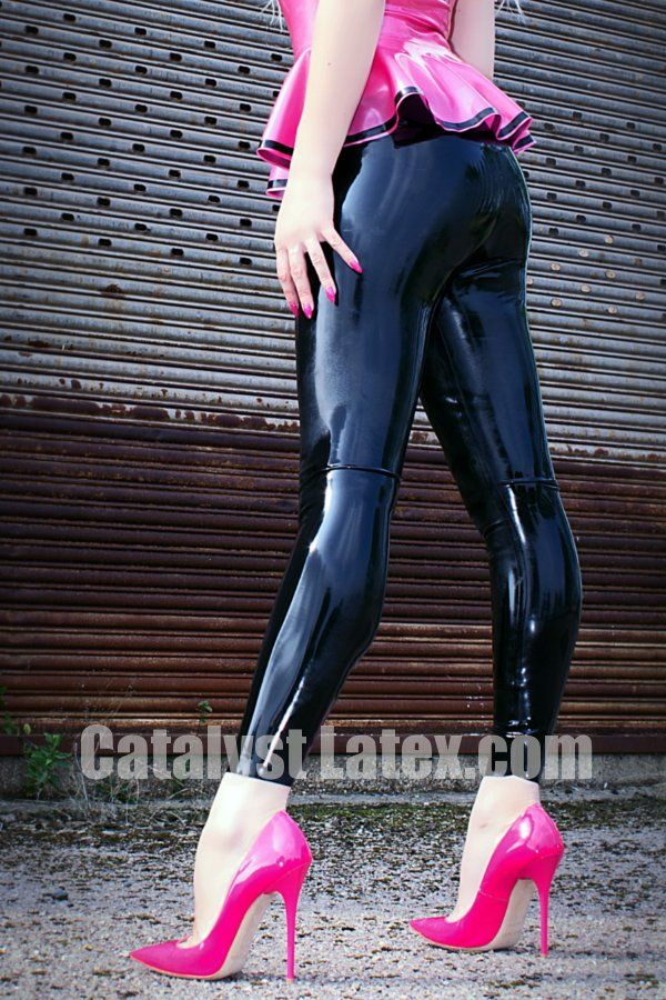 5c96f37535213 Rubber Legging style Jeggings - Catalyst Latex - Real clothes in ...