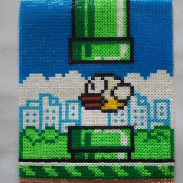 Flappy Bird Nabbi perler beads made by Ina - sissan75