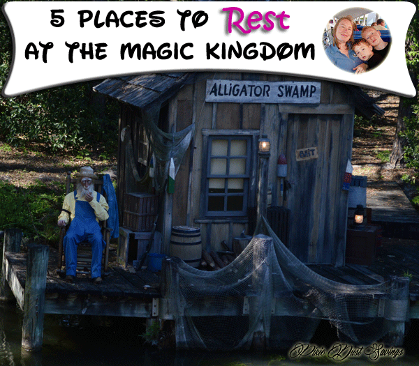 """5 Places to """"Rest"""" at the Magic Kingdom- Rock Your #disneyside Party May 23rd"""