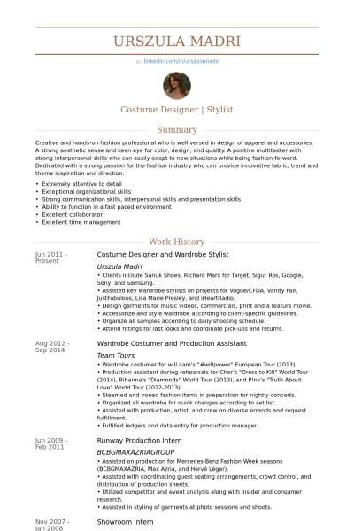 fashion stylist resume examples - Kleo.beachfix.co