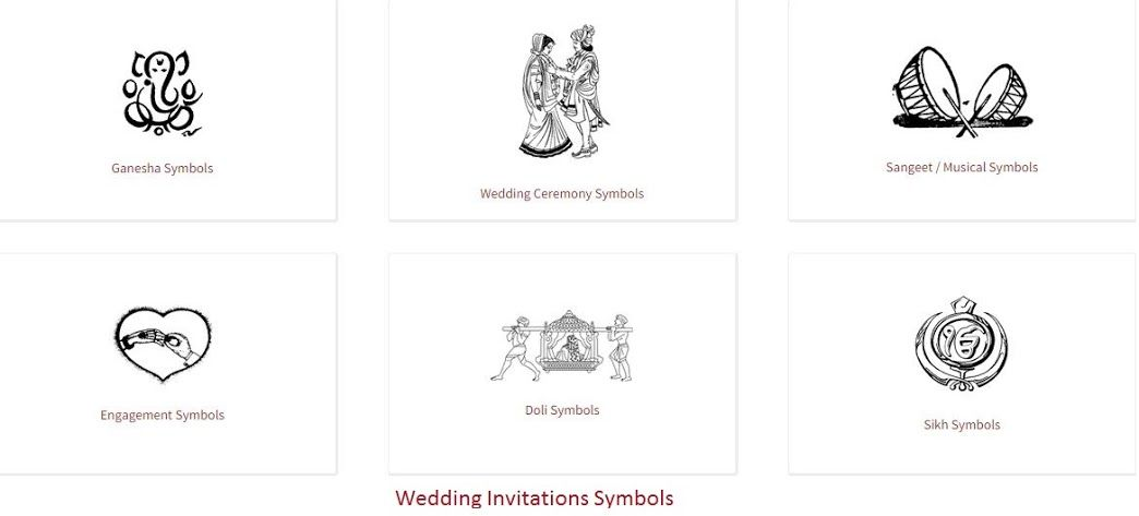 Wedding Invitations Symbols 123WeddingCards