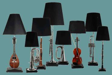 lamparas con instrumentos musicales - Buscar con Google