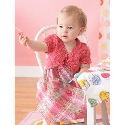 Easy Baby S Bolero Knit Pattern Free Knitting Baby Knitting
