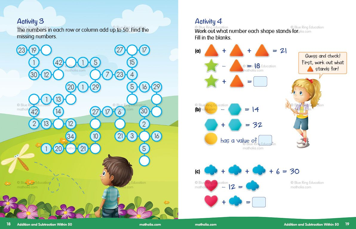 Addition And Subtraction Within 50 Activity 3 4 Play To Learn Addition And Subtraction Problem Solving Primary maths addition and
