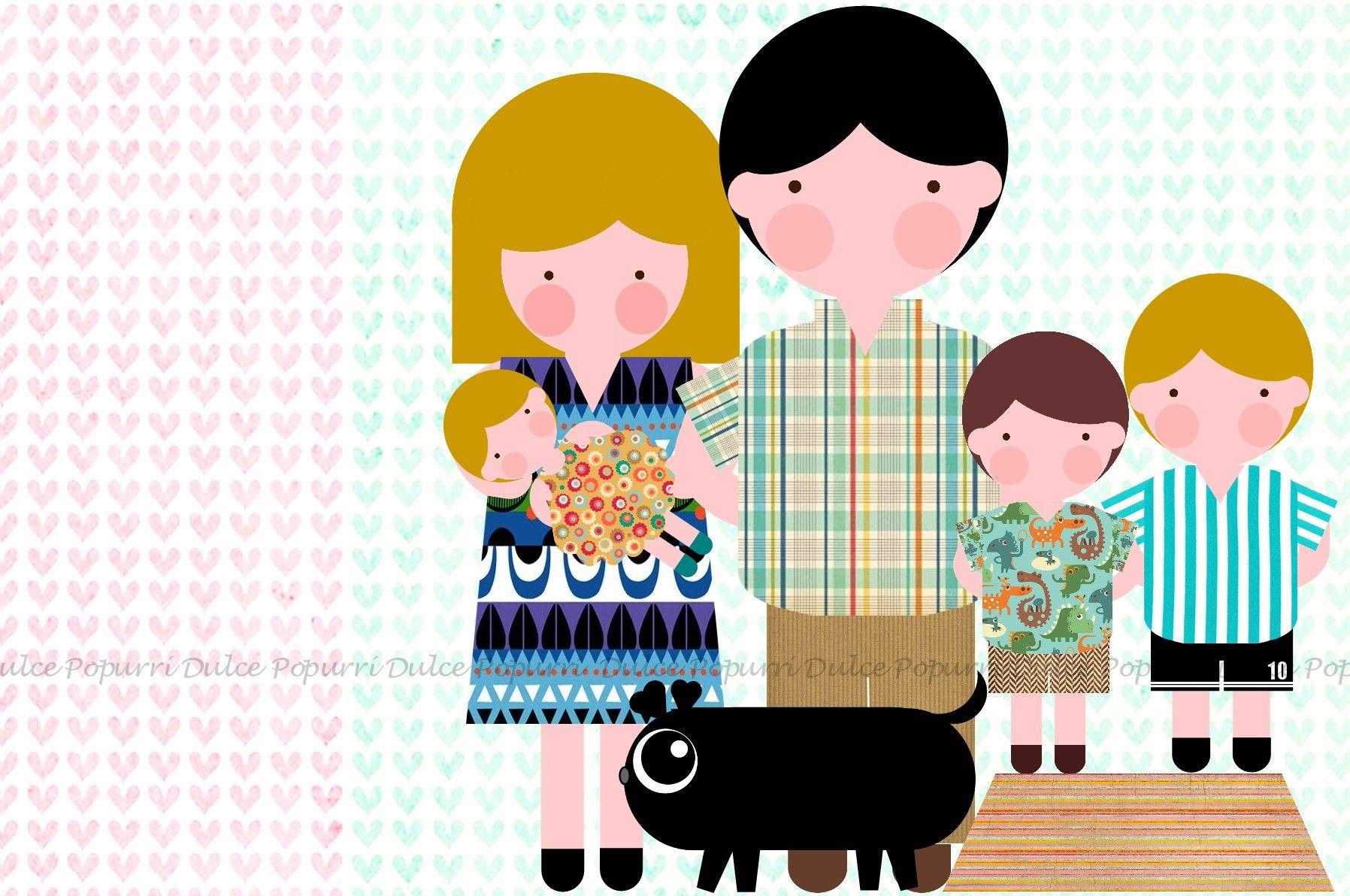 15 De Mayo Dia Internacional De La Familia Dulce Popurri Popurri Dibujos Dibujo Digital