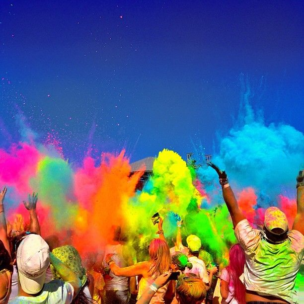 Sebmafunas Photo Boom An Explosion Of Colour At Yesterdays Holi One Festival Holi Festival Of Colours Holi Festival India Color Festival