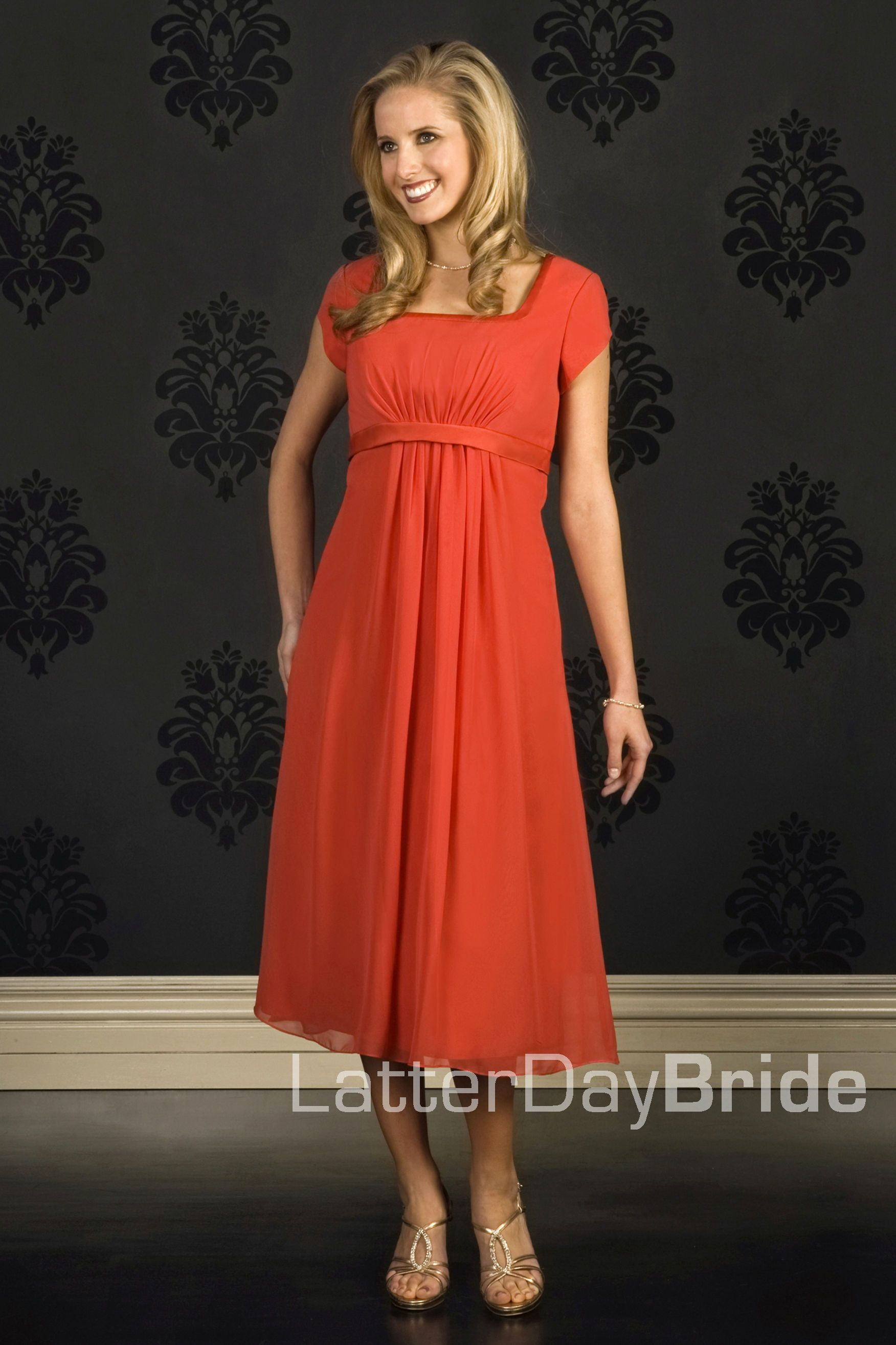Poly chiffon modest bridesmaids dress with pleated empire poly poly chiffon modest bridesmaids dress with pleated empire poly satin band on neckline and empire ombrellifo Choice Image