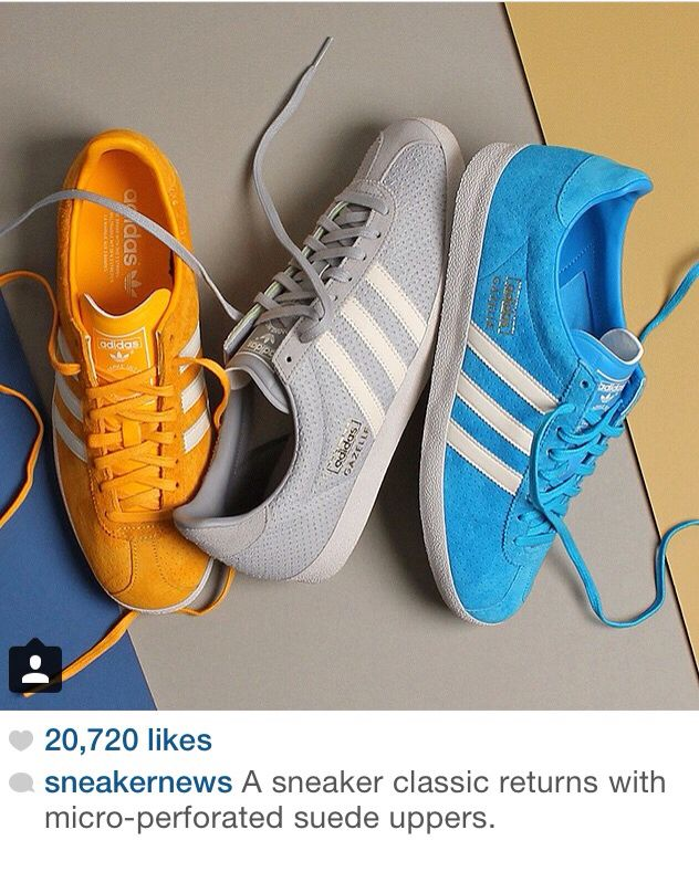 the latest 1a98f 26f21 Adidas Gazelle perforated suede classics.