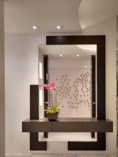 Estante de ingreso recibidor moderno en 2019 - Muebles de recibidor modernos ...