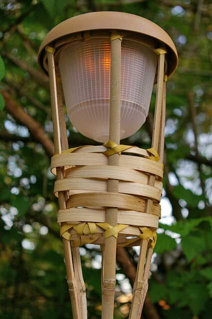 lighting tiki torches. Tiki Torch Light, Bamboo, Flickering LED, Battery Operated, Luau Lighting Torches