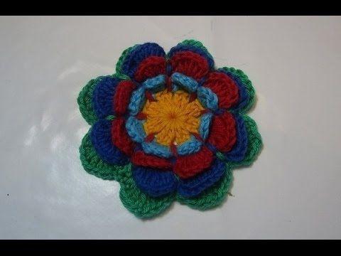 Flor em crochê da Diana