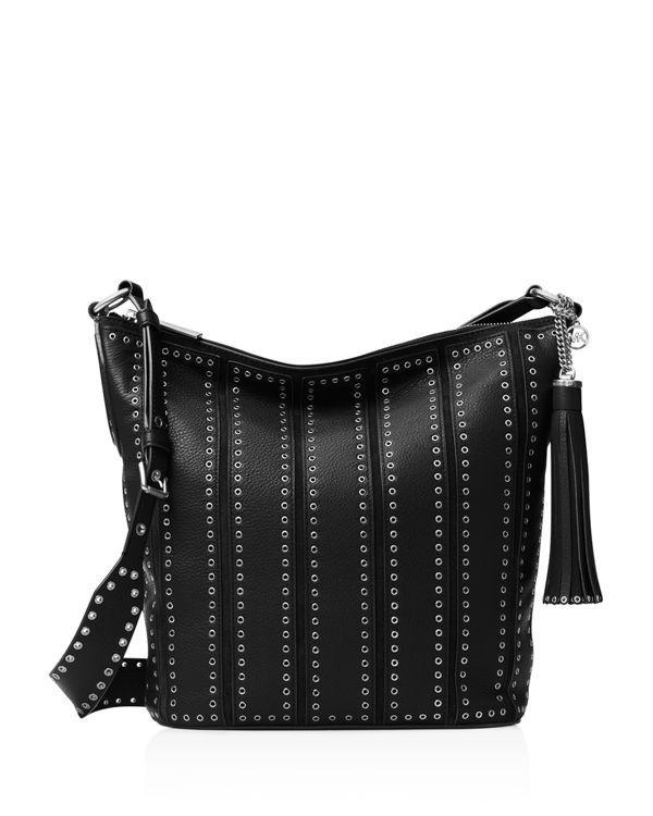 96f2171b87d9 Michael Michael Kors Medium Brooklyn Grommet Feed Bag Crossbody ...