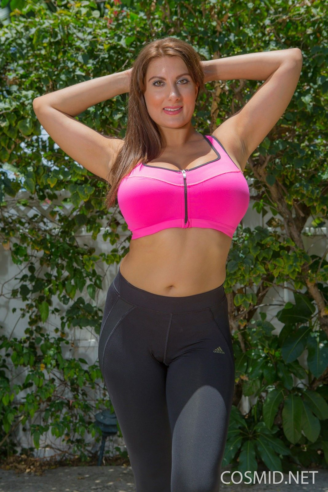 Busty milf outdoors photo