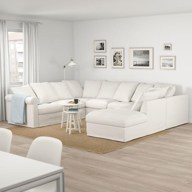 Gronlid Sofa U Form 6 Sitzig Ohne Abschluss Inseros Weiss