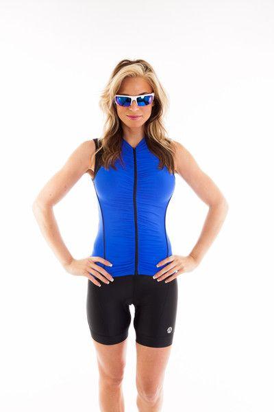 Beatriz Sleeveless Bike Jersey with Ruched Front- sleeveless and sexy!   cycling  fashion  ootd  bikejersey  madeforwomen  womens  bike  jersey 05593543e