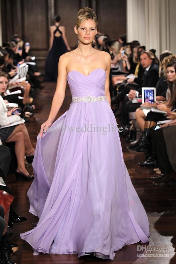 2017 Elegant Sweetheart Chiffon Ruffles Country Bridesmaid Dress ...