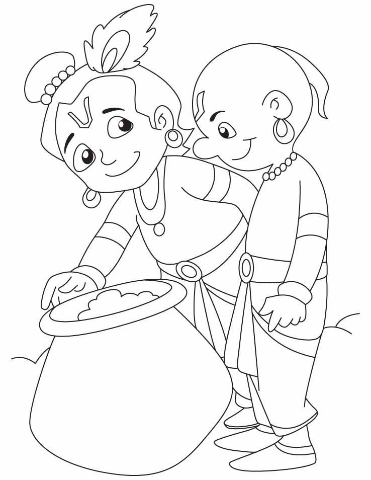 Colouring Pages Of Baby Krishna Lord Krishna Sketch Art Drawings Sketches Simple Krishna Drawing