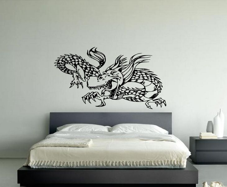 Dragon Monster Sticker Wall Vinyl Car Decal Silhouette Mural Gift