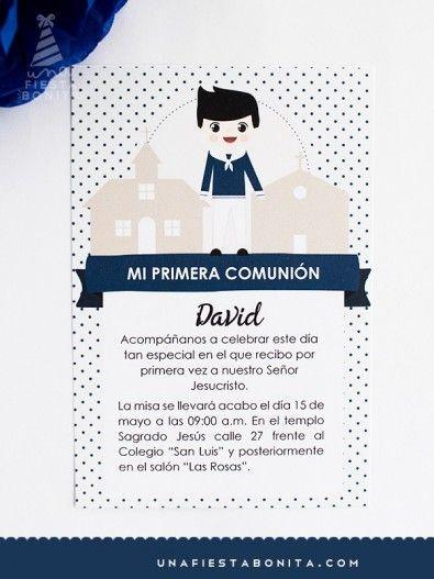 INVITACIÓN - PRIMERA COMUNIÓN - NIÑO MARINERO II
