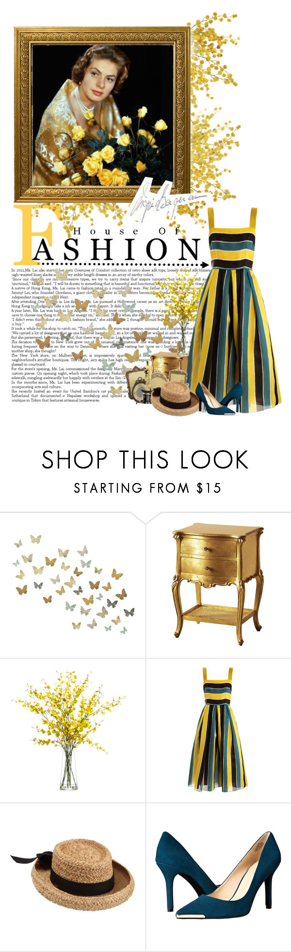 """""""Ingrid"""" by love-audrey-hepburn ❤ liked on Polyvore featuring Lux-Art Silks, Dolce&Gabbana, Scala and Nine West"""